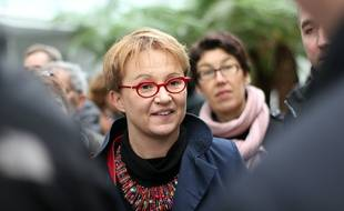 La maire de Rennes Nathalie Appéré, ici en mars 2016, en marge de la visite de la ministre du logement Emmanuelle Cosse.