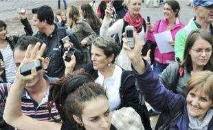 Flashmob, soit une mobilisationéclair.