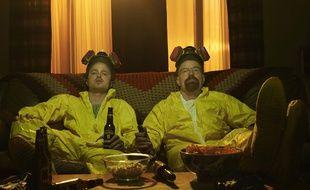 Jesse Pinkman et Walter White de la série américaine «Breaking Bad».