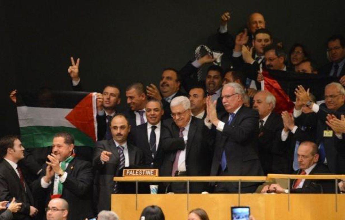 """Israël s'est montré aussi très critique envers ce nouveau statut accordé aux Palestiniens. Le Premier ministre Benjamin Netanyahu a dénoncé le discours prononcé avant le vote par le président Mahmoud Abbas, le qualifiant de """"diffamatoire et venimeux, rempli de propagande fallacieuse contre l'armée israélienne et les citoyens d'Israël"""". – Stan Honda afp.com"""