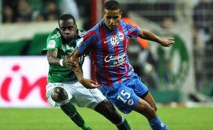 L'attaquant caennais Youssef El-Arabie, le 24 octobre, lors d'un match à Saint-Etienne.