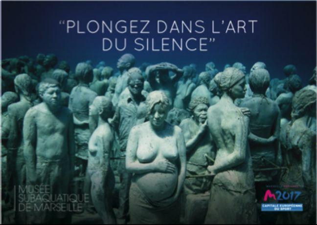 L'affiche pour promouvoir le futur musée sous-marin à Marseille.