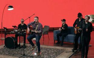 Le groupe Galasy ZMesta, choisi pour représenté la Biélorussie à l'Eurovision 2021.