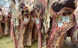 Des carcasses de viande. (Illustration)