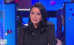 Sarah Fraisou sur le plateau de « Touche pas à mon poste » le 27 avril 2021