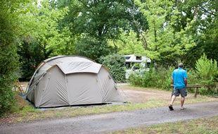 Le Teich (Gironde), 8 juillet 2012. - Camping Ker Helen au Teich. - Photo : Sebastien Ortola