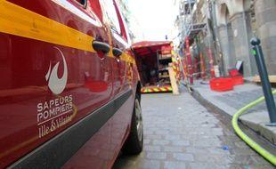Illustration de l'intervention de pompiers. Ici lors d'un incendie à Rennes.