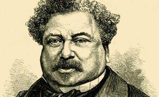 Alexandre Dumas, écrivain français. Gravure du XIXème siècle.