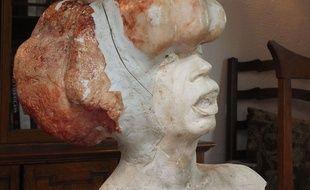 Towecester, Grande-Bretagne, le 17 juin 2015. Un buste représentant J. Merrick utilisé pour le film