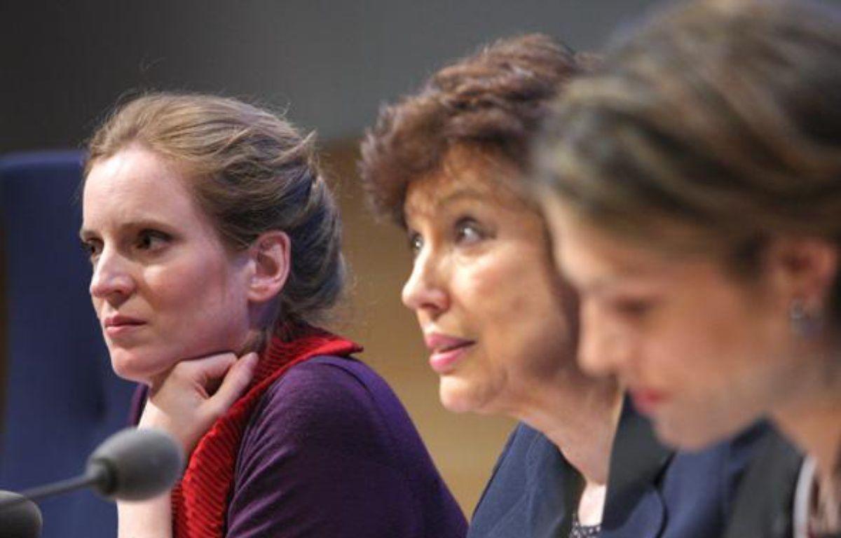 Un trio féminin côté gouvernement pour le «Grenelle des ondes»: Nathalie Kosciusko-Morizet, Roselyne Bachelot et Chantal Jouanno – AFP