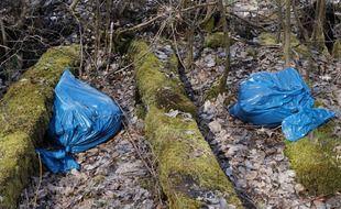 Des sacs poubelle abandonnés dans la nature (illustration).