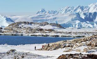 Illustration de l'Antarctique, à Zhongshan Antarctic Station, le 27 février 2014.