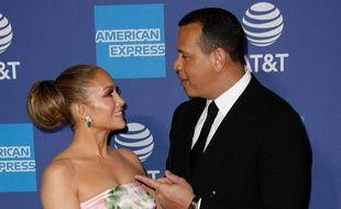 Les futurs mariés Jennifer Lopez et Alex Rodriguez