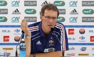 Laurent Blanc lors d'une conférence de presse, le 9 août 2010.