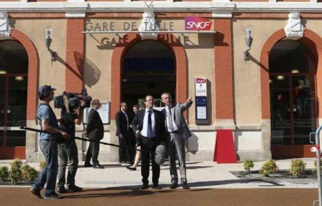 François Hollande en visite à Tulle, en Corrèze, le 21 juillet 2012.