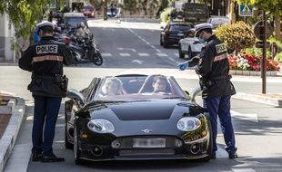 Un contrôle de police de la Sûreté publique de Monaco (Illustration)