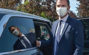 Le ministre de la Santé Olivier Véran, le 21 septembre 2020 à Mantes-la-Jolie.