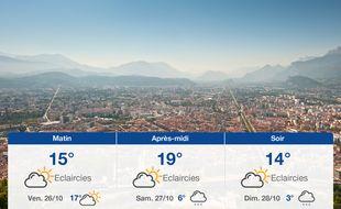 Météo Grenoble: Prévisions du jeudi 25 octobre 2018