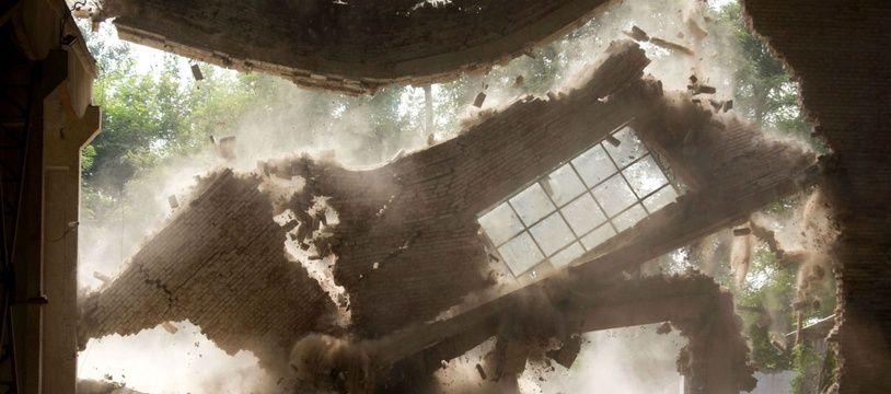 L'atelier «gauche droite» de l'artiste Ai Weiwei, situé à Pékin, détruit par les autorités chinoises le 3 août 2018.