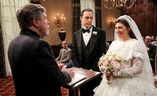 Jim Parsons et Mayim Bialik dans la saison 11 de «The Big Bang Theory», avec Mark Hamill en guest.