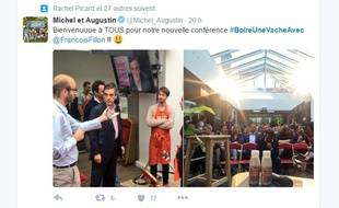 François FIllon était l'invité du dernier «Boire une vache», un cycle de conférence qu'organise Michel & Augustin dans ses locaux.