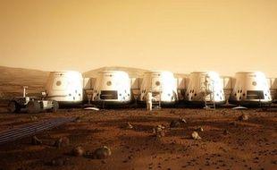 Des installations sur la planète Mars, imaginées par la société Mars One.