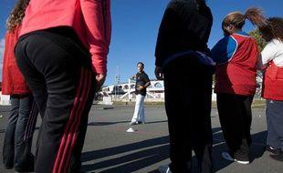 Cours d'éducation physique pour adolescents en surpoids le 20 octobre 2010 à Bordeaux.