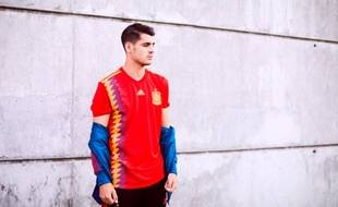 Le nouveau maillot de l'équipe d'Espagne pour la Coupe du monde 2018 de football.