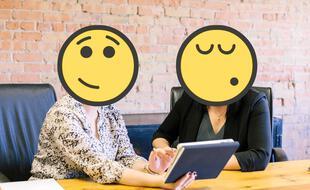 Réunion de travail en mode emoji