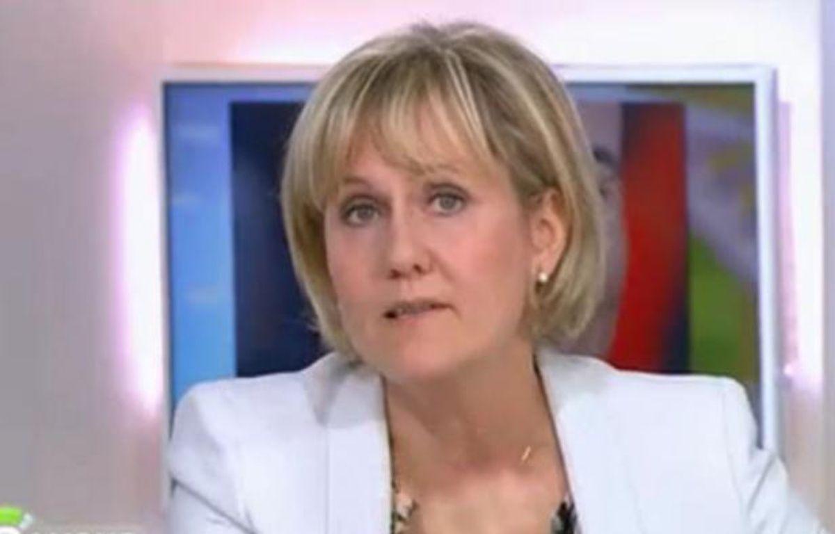 Nadine Morano sur le plateau de «C à vous», le 21 juin 2012. – Capture d'écran 20minutes.fr