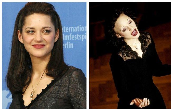 Marion Cotillard en 2007 et dans «La Môme».