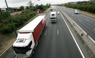 Illustration de transport de marchandises par camion.