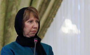 La chef de la diplomatie européenne, Catherine Ashton, à Téhéran le 9 mars 2014