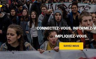 Capture d'écran du site ajplus. net.
