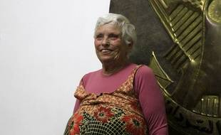 La Suissesse Margaret Schankel après sa libération, à Khartoum le 15 novembre 2017.