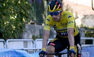 Victime de deux chutes, Primoz Roglic avait perdu son maillot jaune lors de la dernière étape du Paris-Nice cette année.