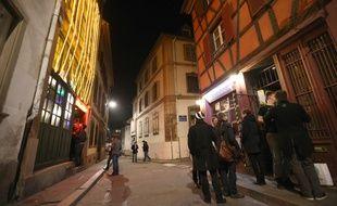 Strasbourg le 09 03 2014. Dans les rues de Strasbourg la nuit.