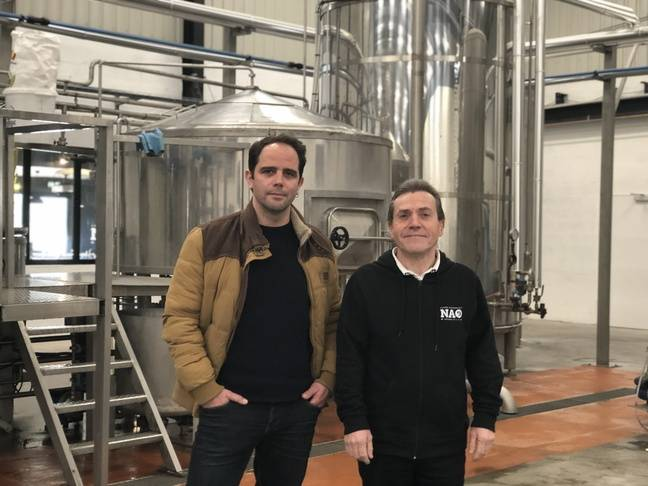 Ludovic Maretl et Yves Goff, responsables de la brasserie Nao