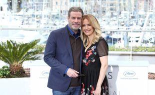 Les époux John Travolta et Kelly Preston en 2018