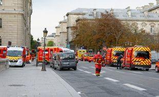 Lors de l'attaque au couteau à la préfecture de police de Paris, le 3 octobre.