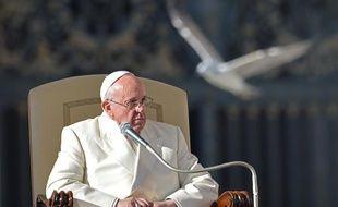 Le pape François, ici au Vatican le 18 décembre 2013, s'est retrouvé pris dans une mauvais remake du film «Les oiseaux» d'Alfred Hitchcock, le 26 janvier 2014