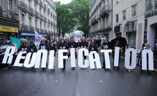 Manifestation pour le rattachement du département de Loire-Atlantique à la région Bretagne à Nantes le 28 juin 2014.