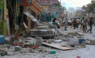 Port-au-Prince, après le séisme qui a ravagé Haïti, le 12 janvier 2010