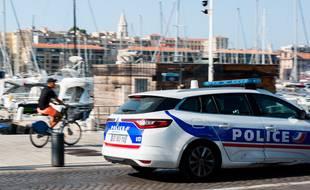 Une voiture de police à Marseille (Illustration)