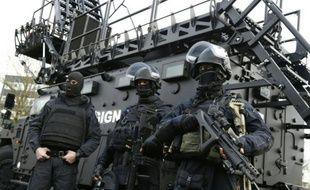 Des gendarmes du GIGN le 11 janvier 2016 à Satory