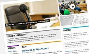 Le site OpenCourt propose de voir des procès diffusés en direct sur Internet.