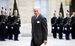 Le ministre des Affaires étrangères, Laurent Fabius, le 1er février 2016 à l'Elysée