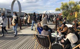 La réouverture des terrasses au Hangar à Bananes à Nantes, mercredi 19 mai 2021