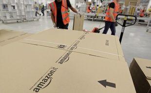 Une plateforme Amazon, ici à Lauwin-Planque (Nord), en novembre 2013.