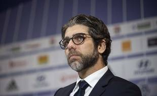 Juninho, ici lors de la conférence de presse de présentation de Rudi Garcia à l'OL, le 15 octobre.